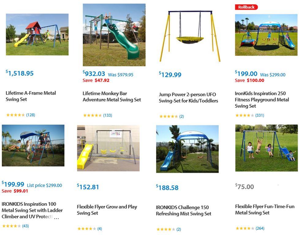 Top Rated Metal Swing Sets, Walmart