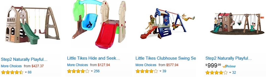 Top Rated Plastic Swing Sets, Amazon