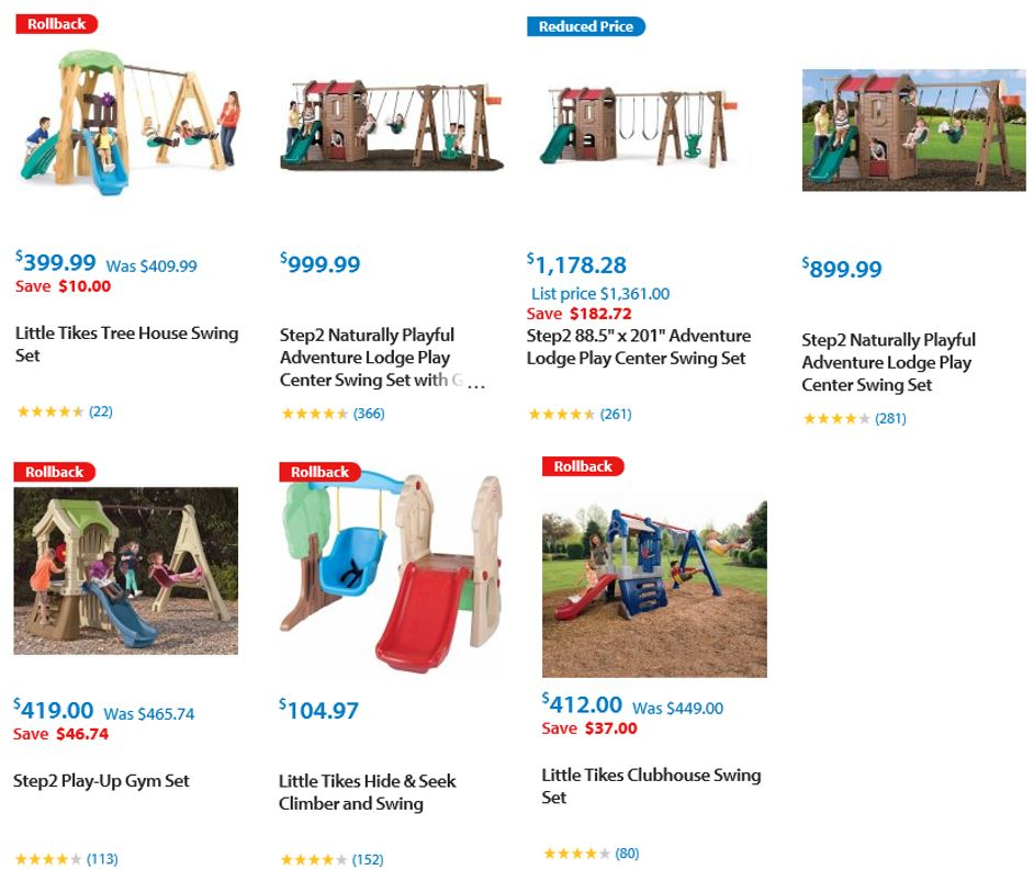 Top Rated Plastic Swing Sets, Walmart