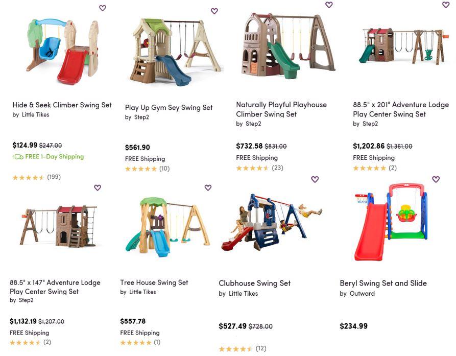Top Rated Plastic Swing Sets, Wayfair