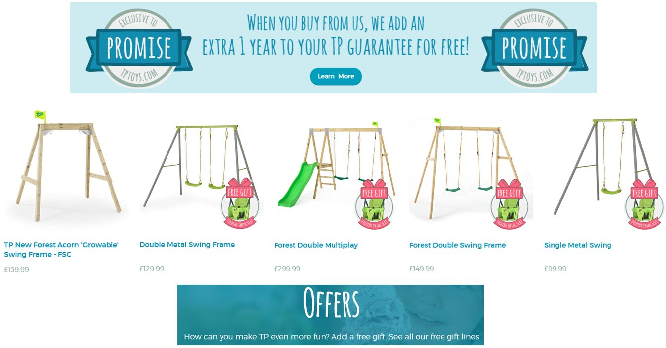 Top Rated Swing Sets UK, TP Toys UK