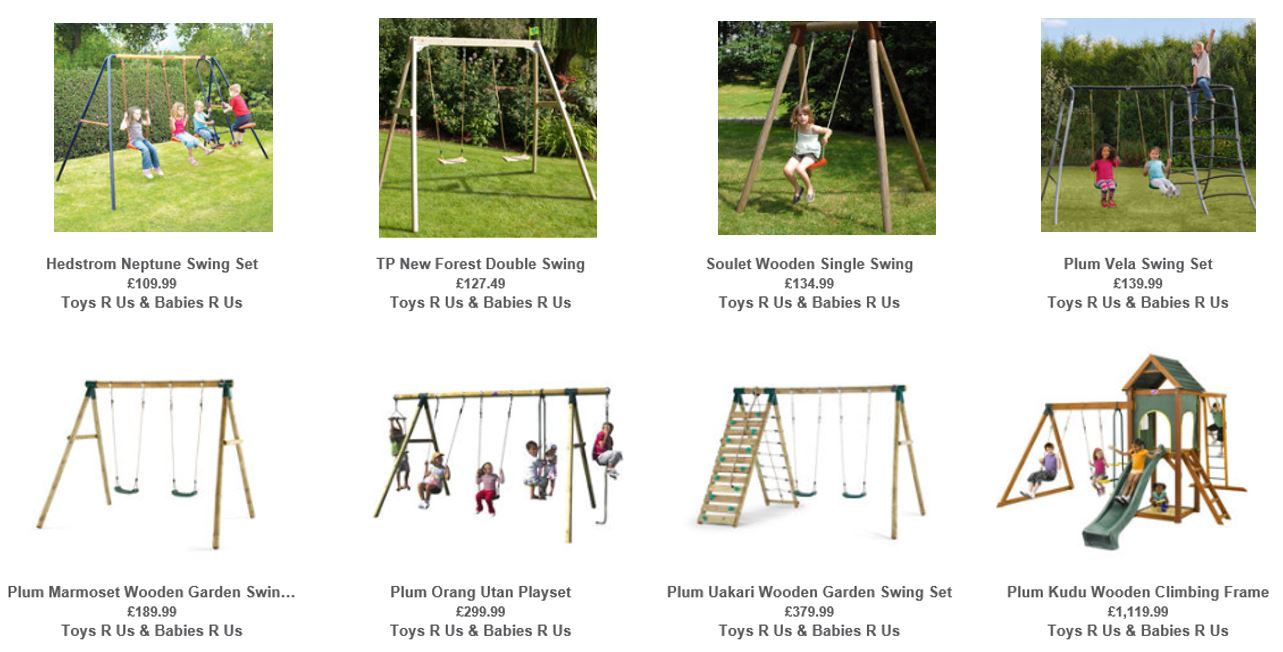 Top Rated Swing Sets UK, Toys R Us UK