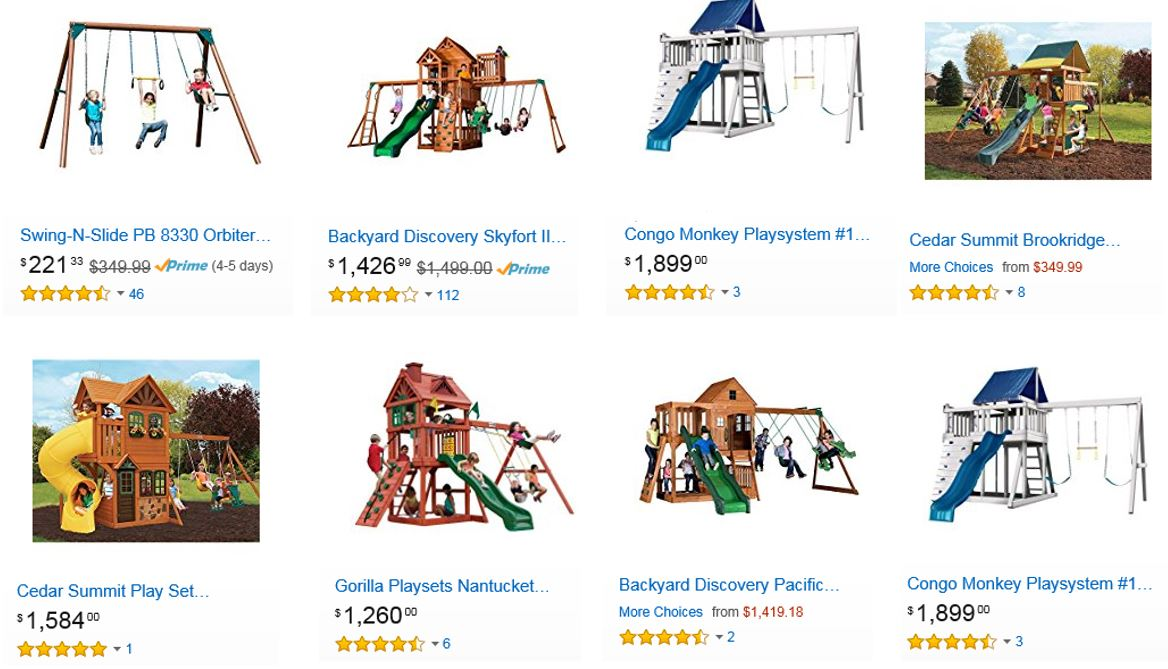Top Rated Wooden Swing Sets, Amazon