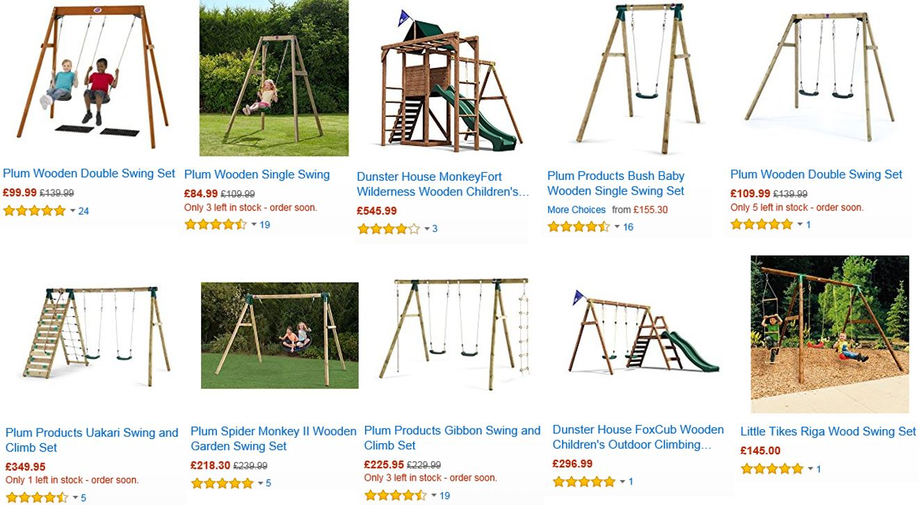 Top Rated Wooden Swing Sets UK, Amazon UK