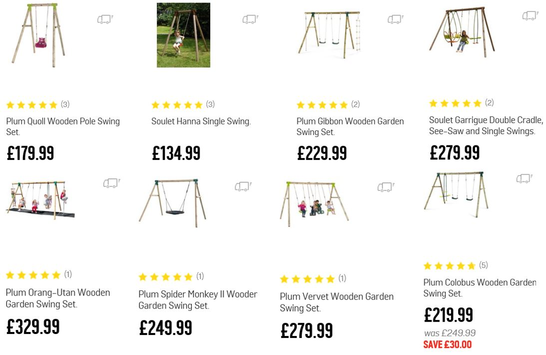 Top Rated Wooden Swing Sets UK, Argos UK