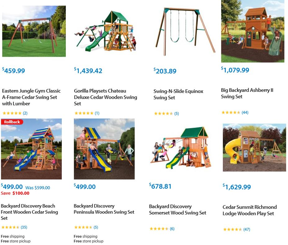 Top Rated Wooden Swing Sets, Walmart