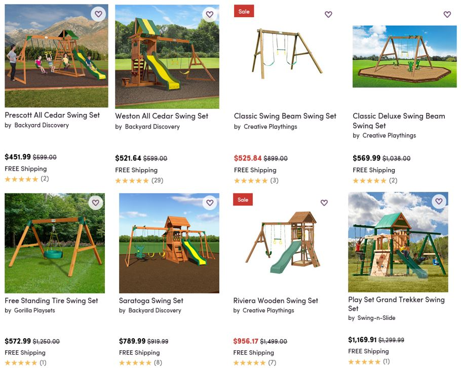 Top Rated Wooden Swing Sets, Wayfair
