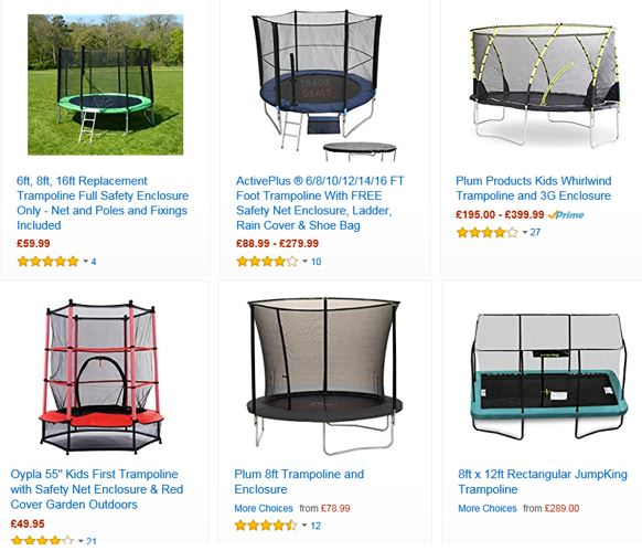 Trampolines from Amazon UK 3