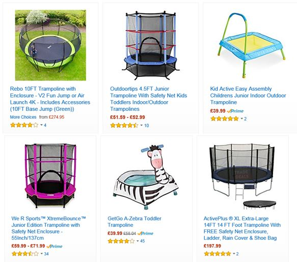 Trampolines from Amazon UK 4