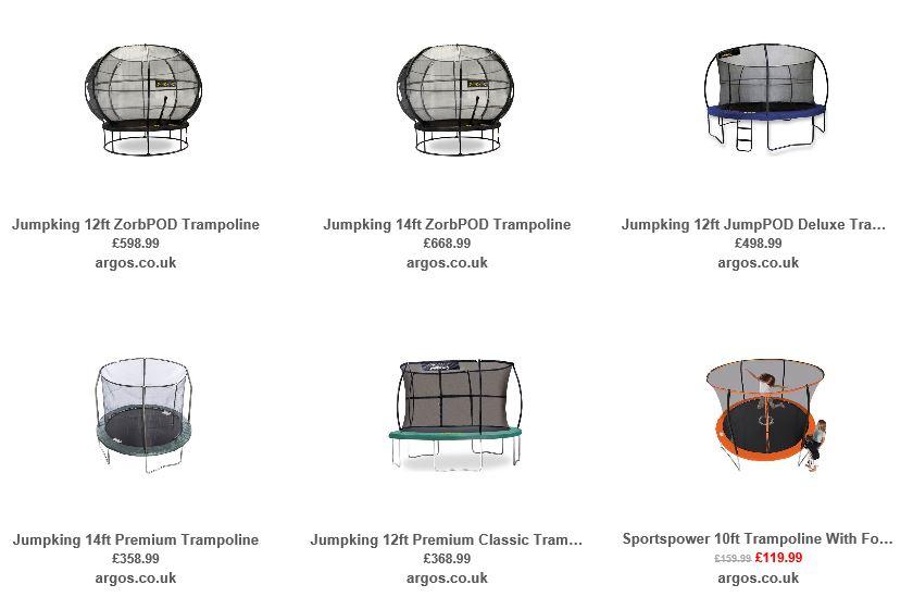 Trampolines from Argos UK 2