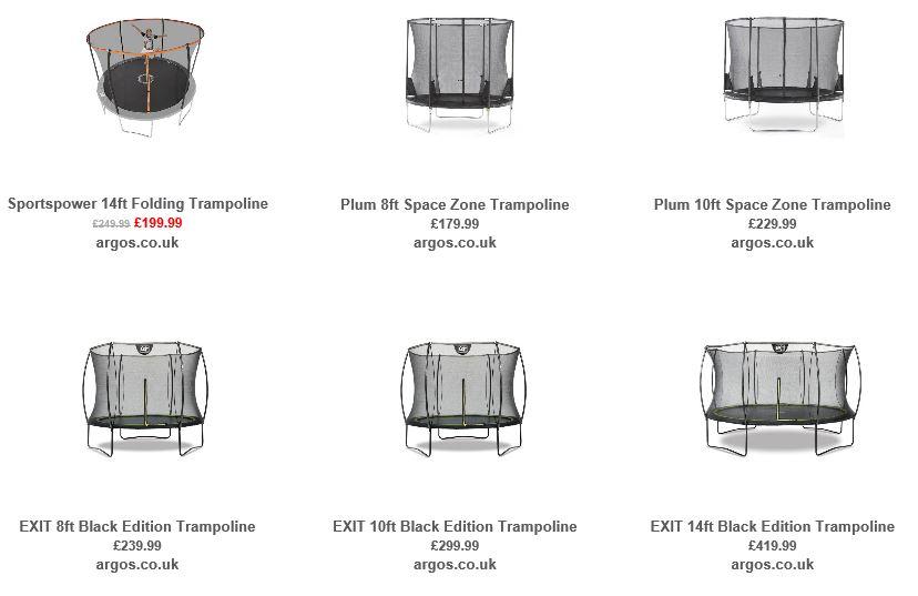 Trampolines from Argos UK 3
