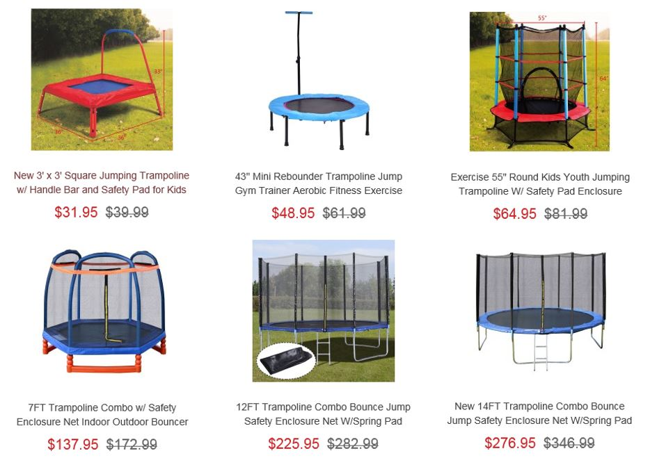 Trampolines from Costway 1