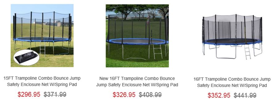 Trampolines from Costway 2