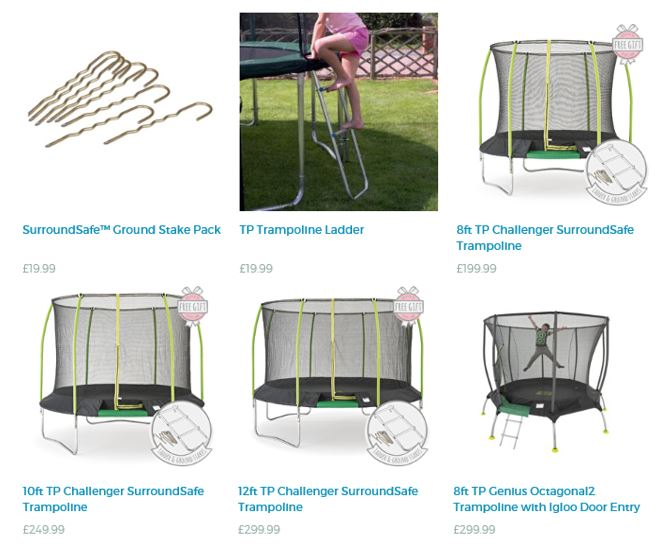 Trampolines from TP Toys UK 1