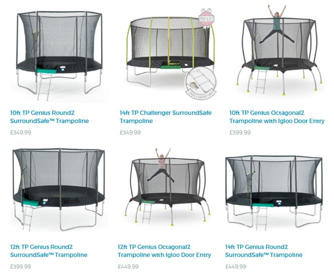 Trampolines from TP Toys UK 2