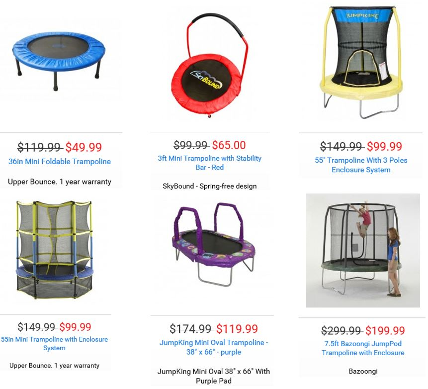 Trampolines From Trampoline Parts And Supply 1 Swing Set Specialist