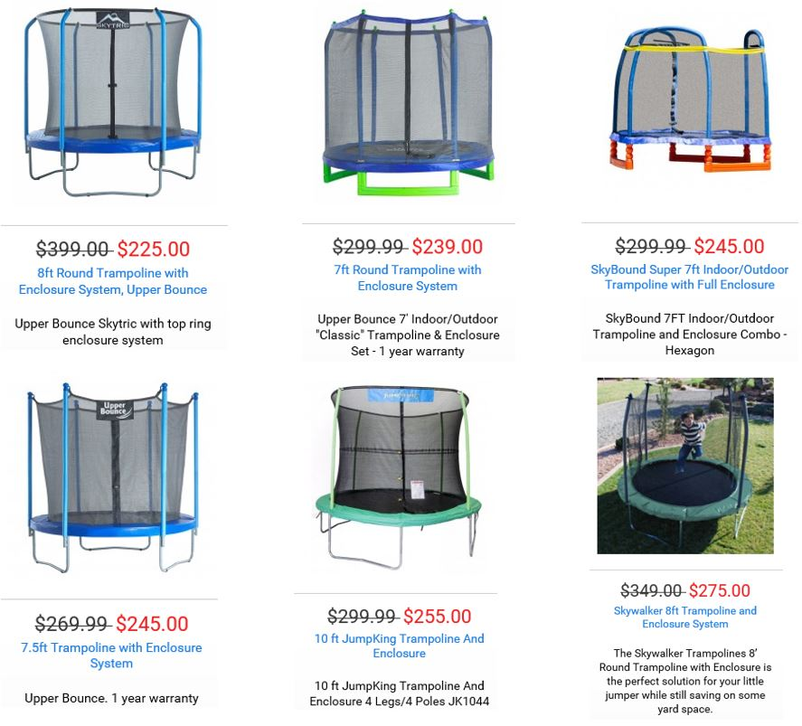 Trampolines from Trampoline Parts and Supply 2