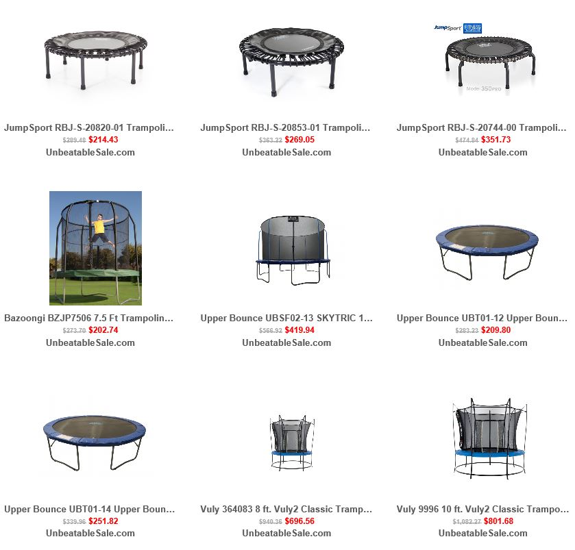 Trampolines from Unbeatablesale 1