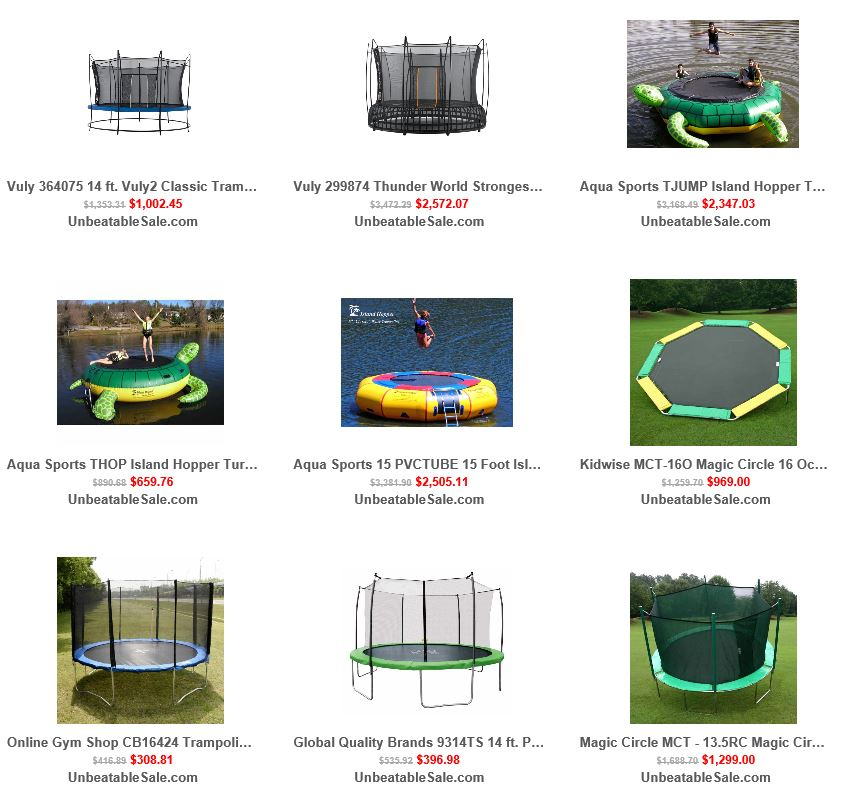 Trampolines from Unbeatablesale 2