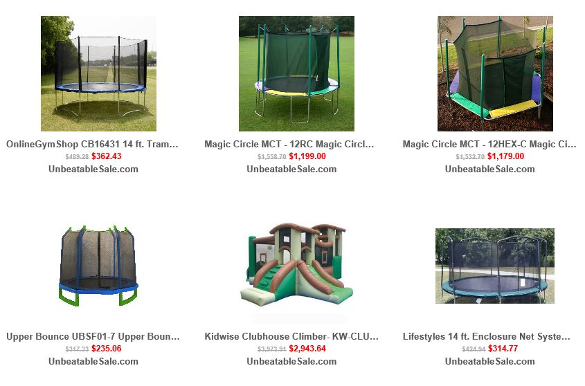 Trampolines from Unbeatablesale 3