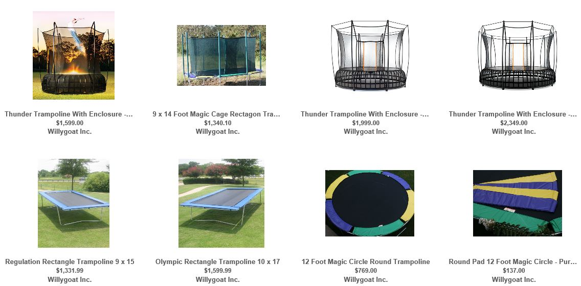 Trampolines from Willygoat 2