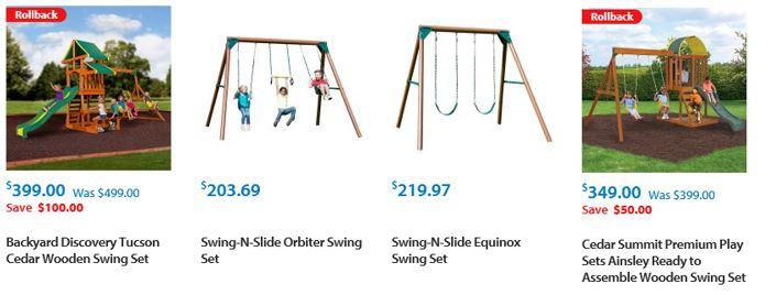 Cheap Wooden Swing Sets, Walmart