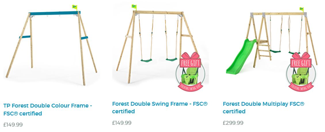 Forest Swing Set Selection at TP Toys
