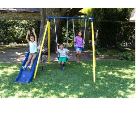 Sportspower Metal Swing Set Reviews 9 Models Covered Swing Set