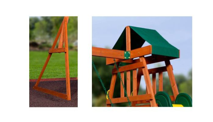 Backyard Discovery Prescott Cedar Wooden Swing Set 2020 ...